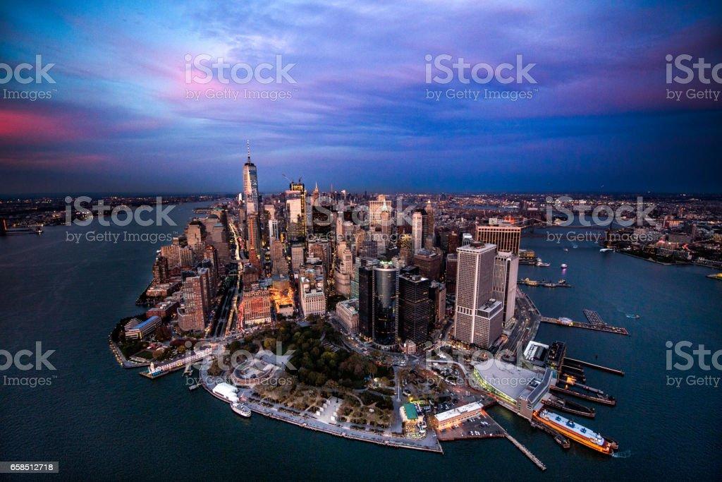 Manhattan island in New York City stock photo
