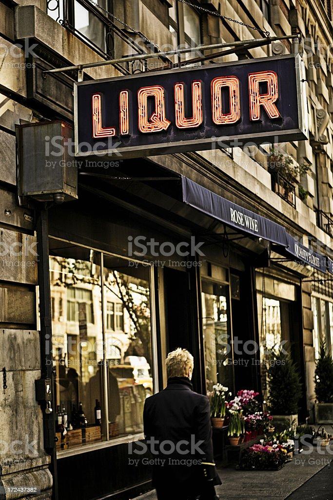 Manhattan Liquor royalty-free stock photo
