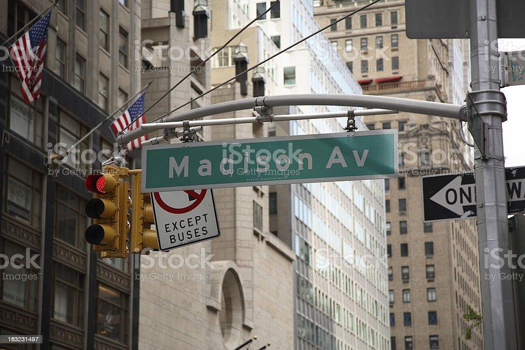 Manhattan: Madison Avenue royalty-free stock photo