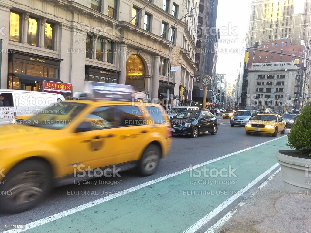 NEW YORK, USA - MARCH 26: Manhattan. Manhattan is one of places with the greatest concentration of the capital in the USA on March 26, 2014 in New York, USA stock photo