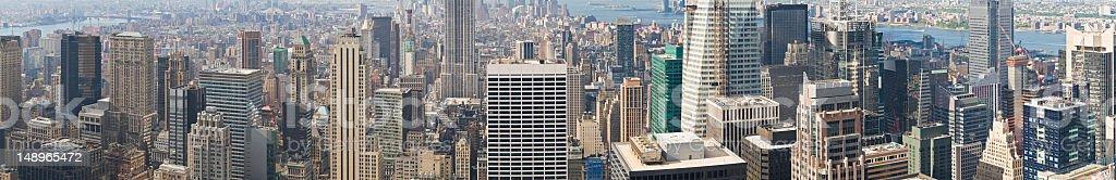 Manhattan Midtown morning panorama royalty-free stock photo