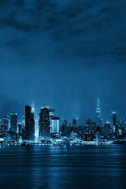 Manhattan Midtown Skyline bei Nacht – Foto