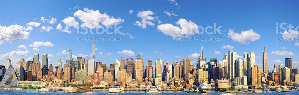 Manhattan Midtown skyline panorama stock photo