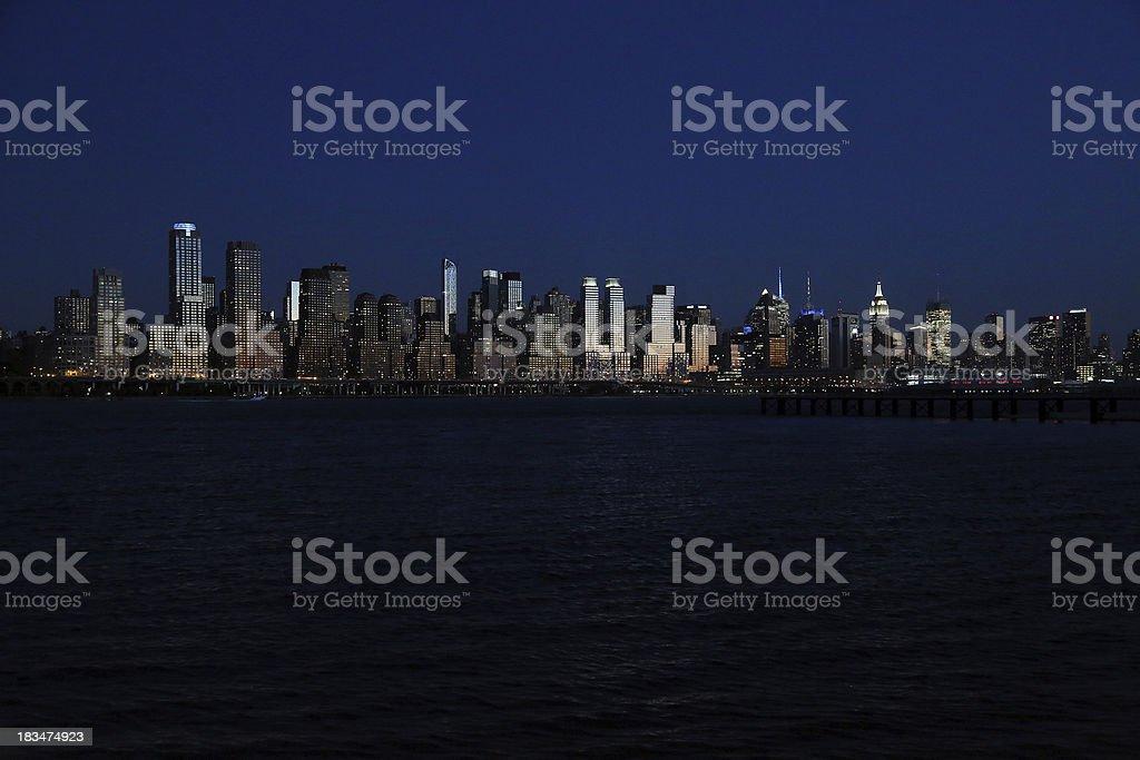Manhattan Midtown Skyline royalty-free stock photo