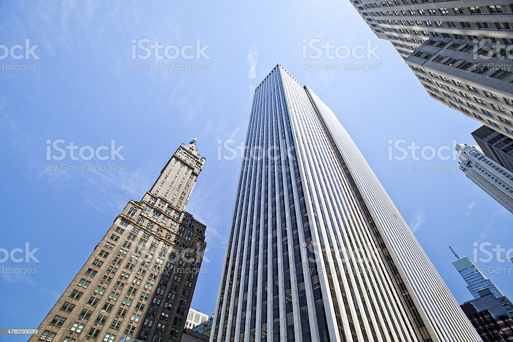 Manhattan modern archit royalty-free stock photo