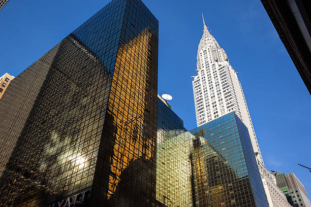 manhattan modern architecture - chrysler building stock photos and pictures