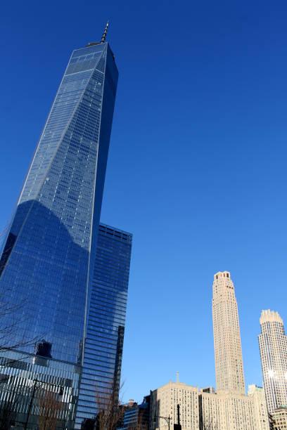 Manhattan modern skyscrapers.Freedom Tower. New York City stock photo