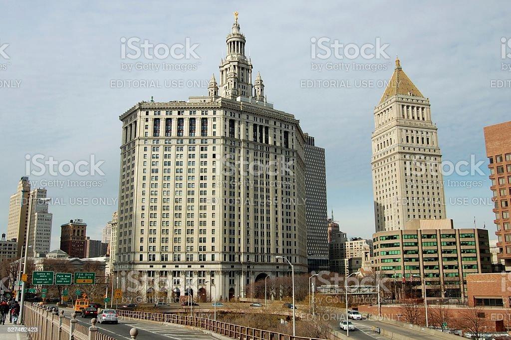 Manhattan Municipal Building, NYC stock photo