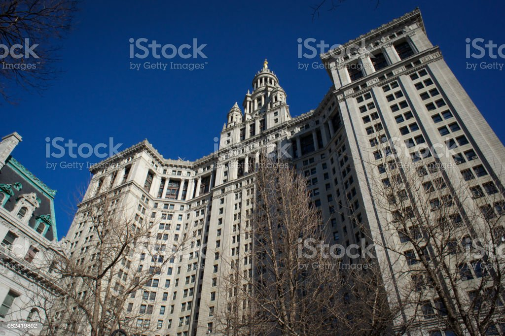 Manhattan Municipal Building stock photo