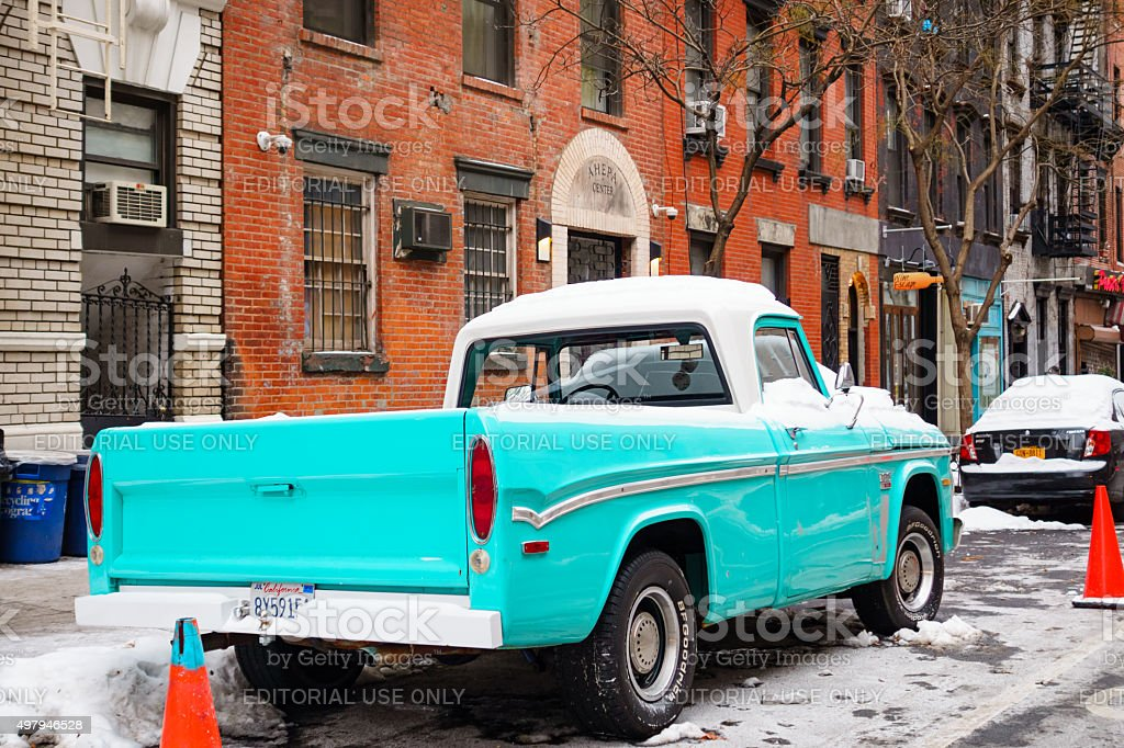 Manhattan New York City 1970 Dodge D100 Pickup Truck Stock Photo Download Image Now Istock
