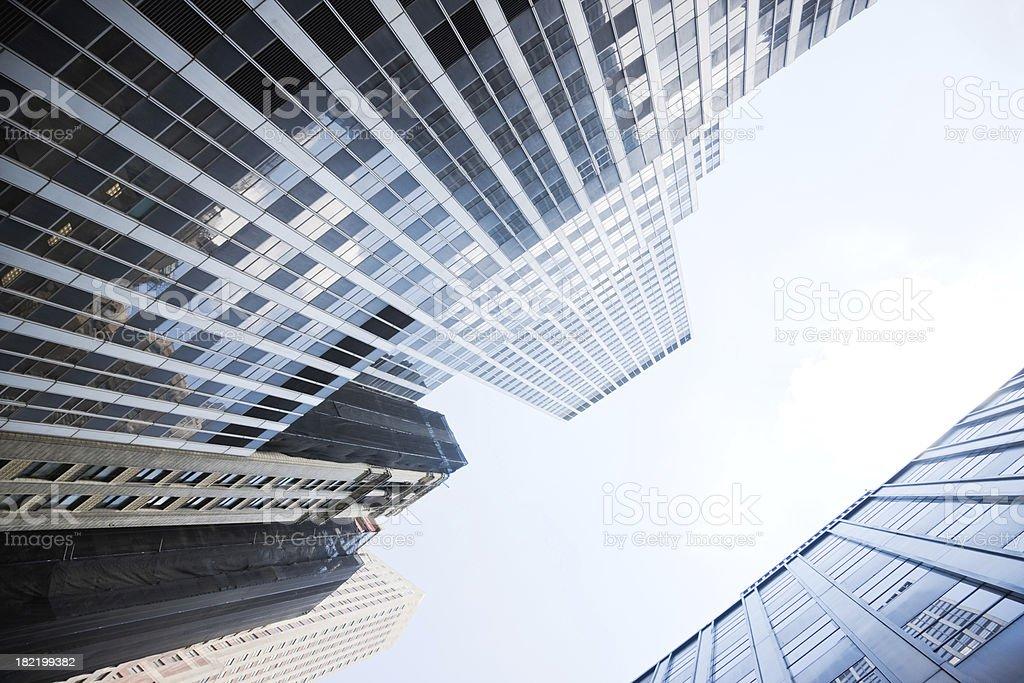 Manhattan New York City Financial District royalty-free stock photo