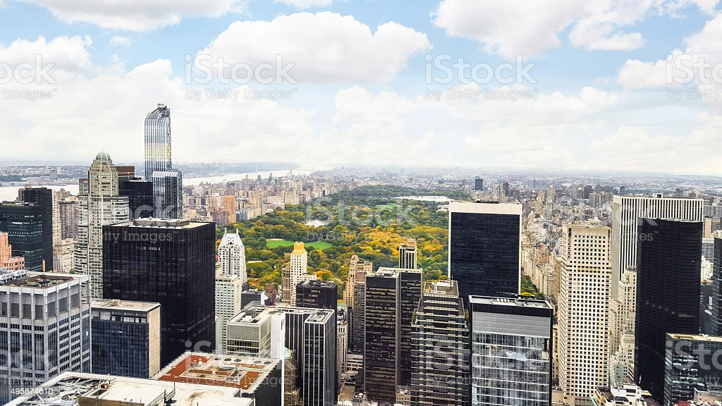Manhattan New York City Skyline Central Park Aerial View Stock Photo Download Image Now Istock