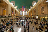 23 May 2015 - New York, USA. Commuters and tourists visiting Grand Central station.