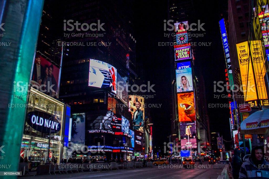 manhattan new york january 1 2018 happy new year 2018 clock