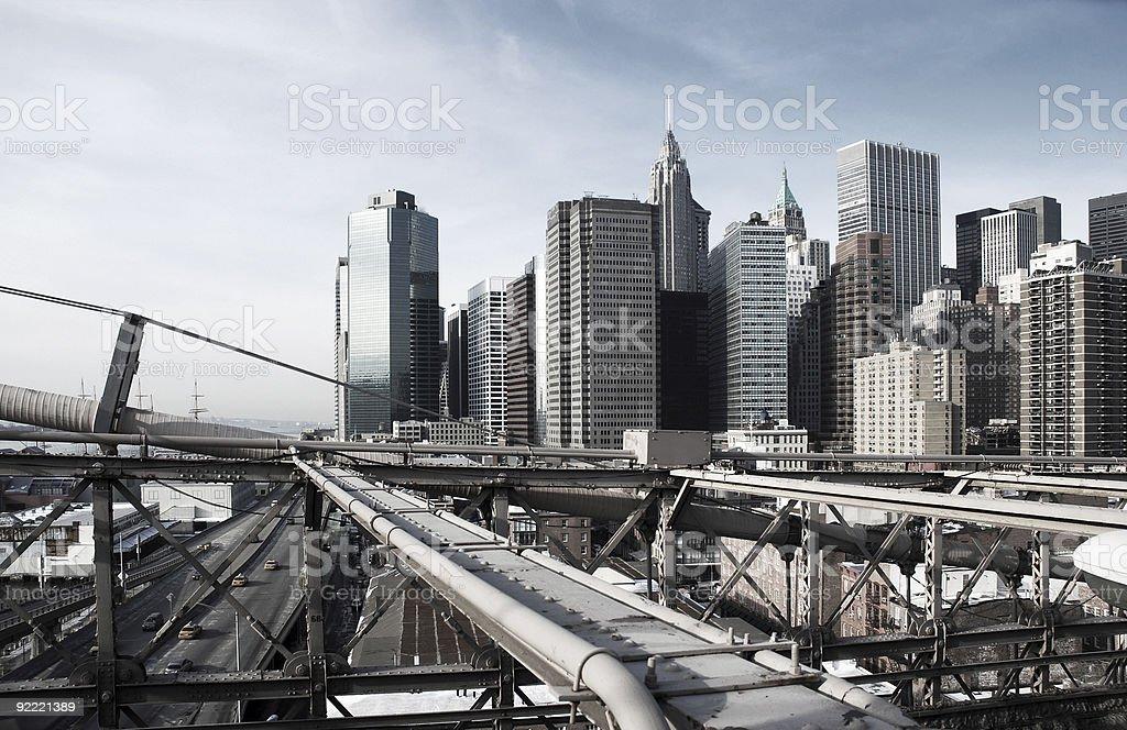 Manhattan, New York, rough industrial toning royalty-free stock photo
