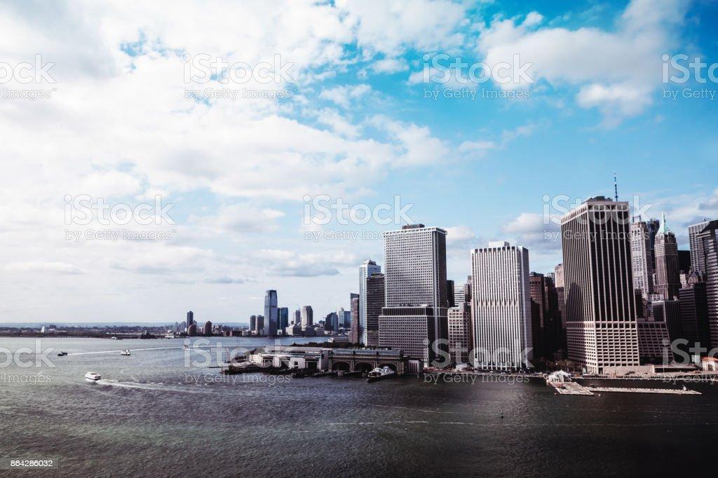 Manhattan New York Skyline From the Air royalty-free stock photo