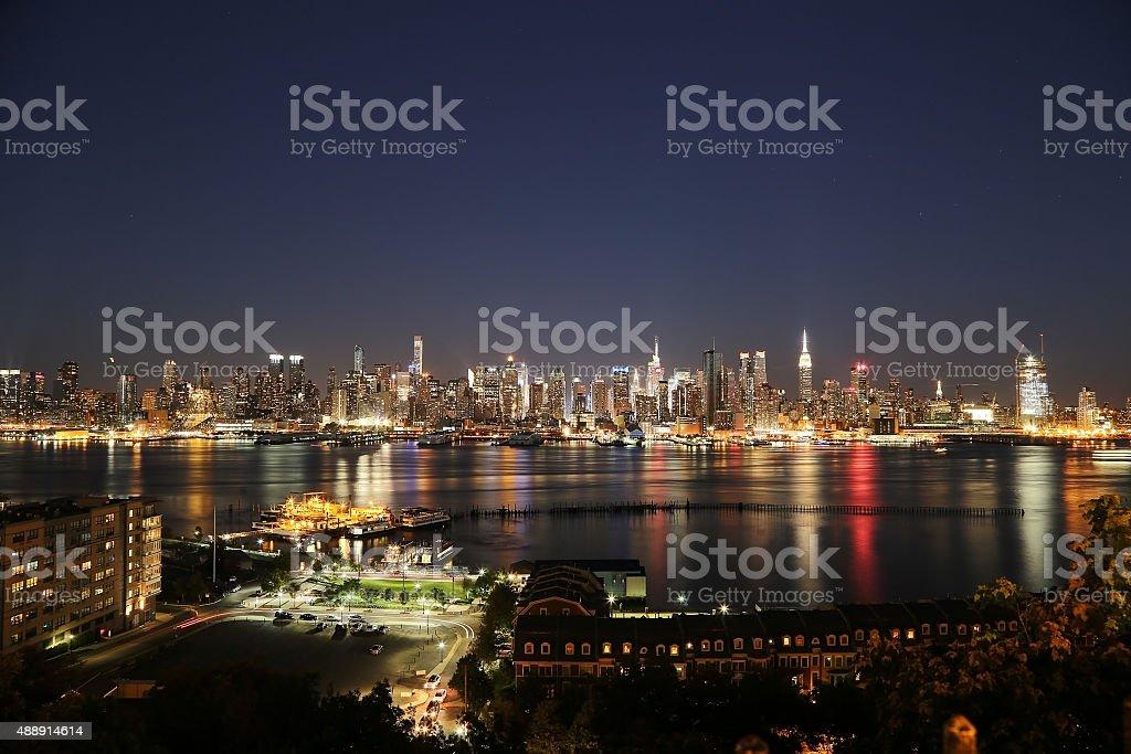 Manhattan Night stock photo