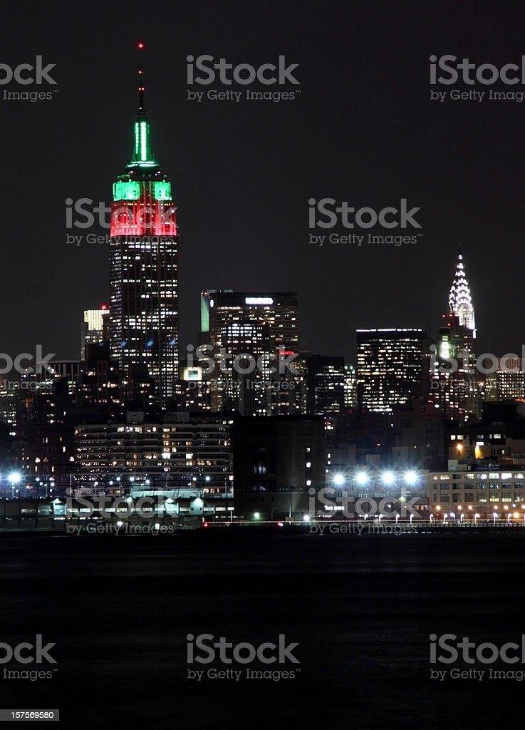Manhattan nightshot royalty-free stock photo