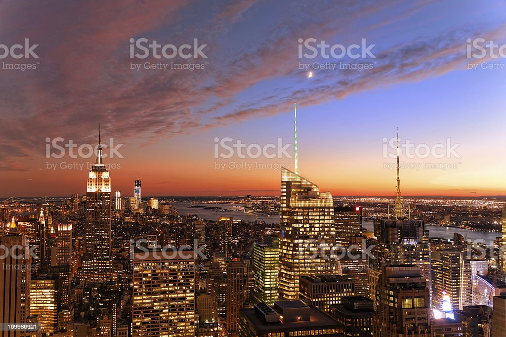 Manhattan, NYC at sunset XXXL stock photo