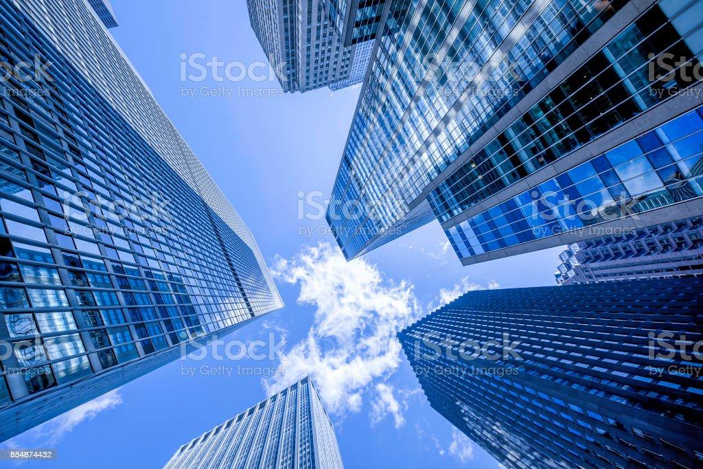 Manhattan office building stock photo