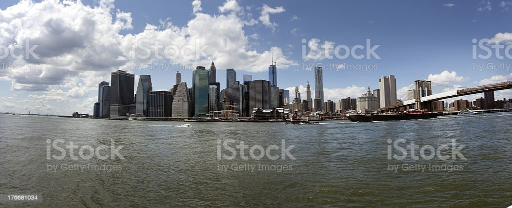 Manhattan Panorama royalty-free stock photo