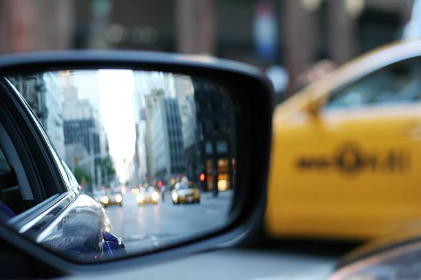 Manhattan, espejo de agua, vista lateral - foto de stock