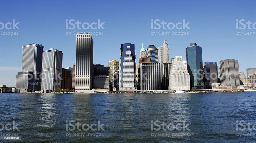 Manhattan River Front royalty-free stock photo