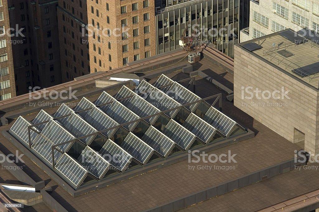 manhattan rooftop royalty-free stock photo