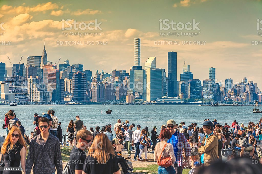 Manhattan Seen From Brooklyn stock photo
