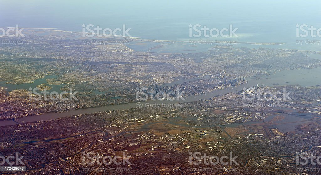 manhattan, seen from the sky royalty-free stock photo