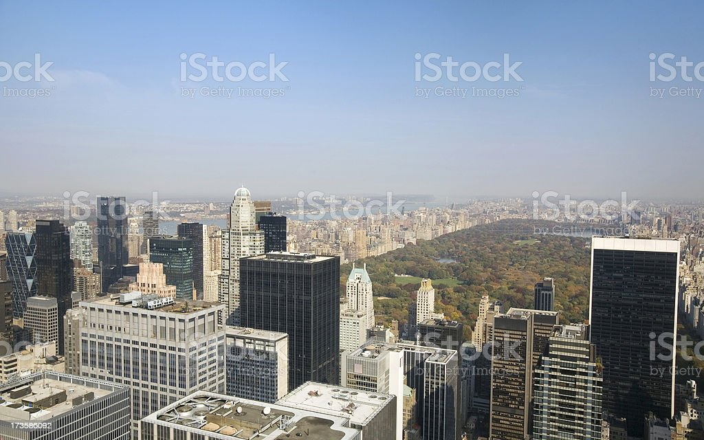 Manhattan Skyline And Central Park royalty-free stock photo
