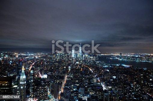 istock Manhattan Skyline at Night 685247444