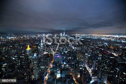 istock Manhattan Skyline at Night 685247526