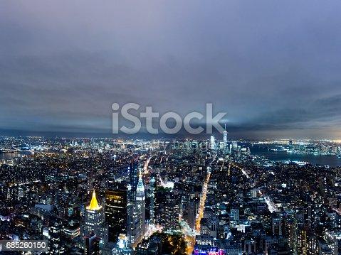 istock Manhattan Skyline at Night 685260150