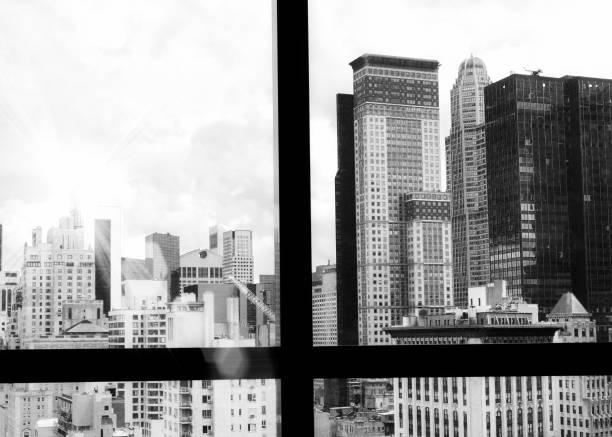 Manhattan Skyline from a Window, NYC. – Foto