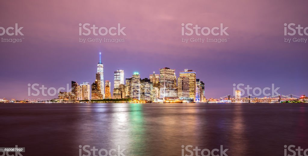 Manhattan skyline from the Governors Island stock photo