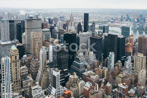 Manhattan Skyline In Midtown