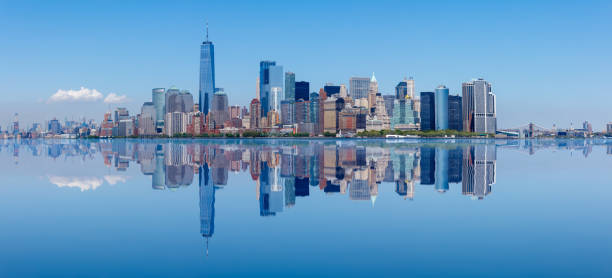 Manhattan Skyline, New York City Manhattan Skyline, New York City, Beautiful cityscape urban sprawl stock pictures, royalty-free photos & images