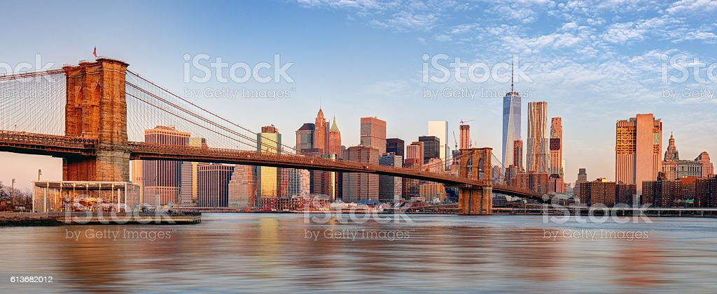 Manhattan skyline, New York City. stock photo
