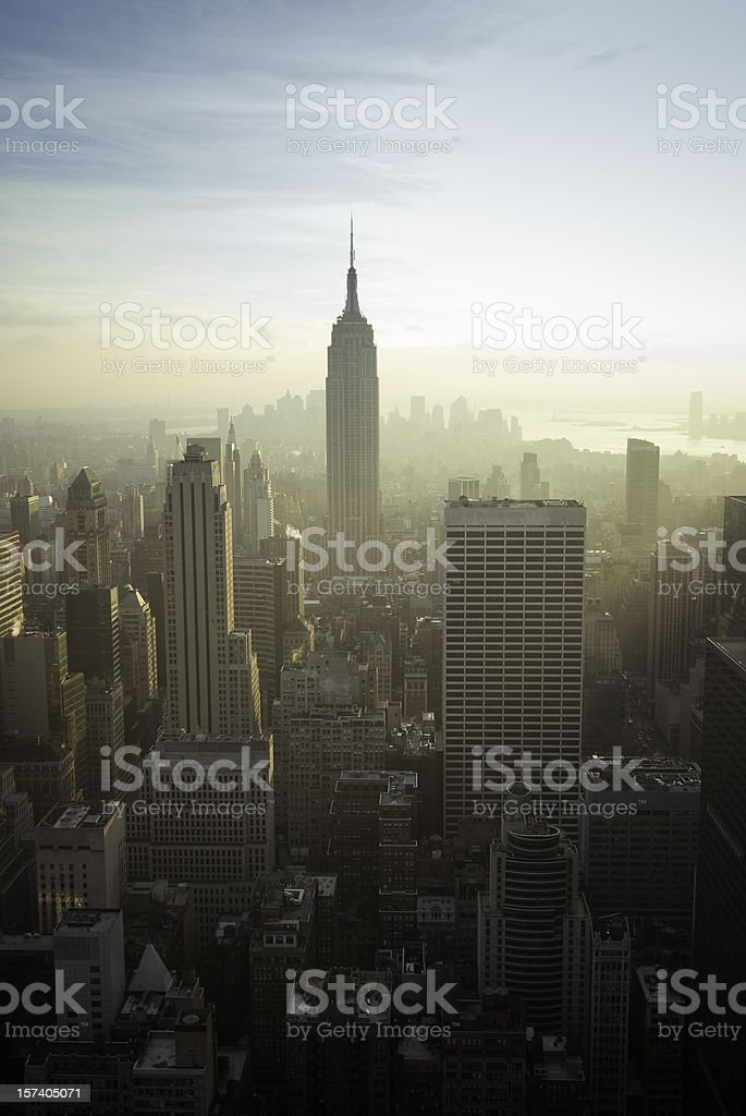Manhattan Skyline NYC royalty-free stock photo
