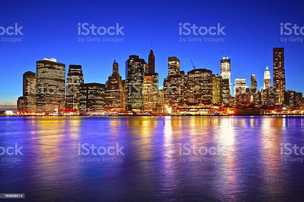 Manhattan Skyline, NYC. royalty-free stock photo