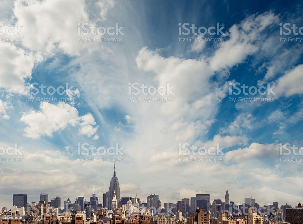 Manhattan Skyline royalty-free stock photo