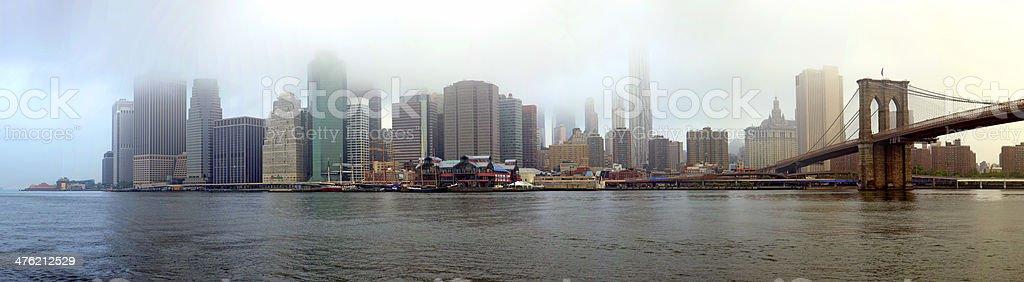 Manhattan skyline royalty-free stock photo
