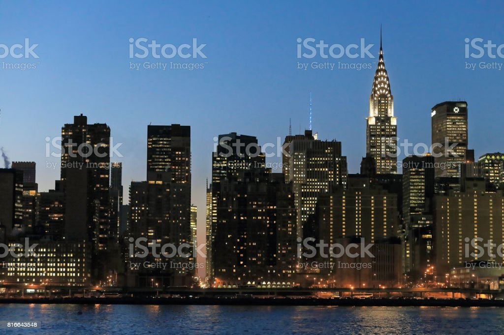 Manhattan skyline stock photo