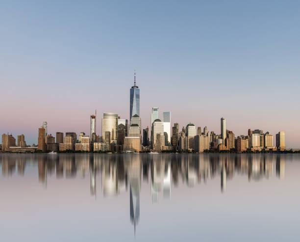 Manhattan Skyline New York City manhattan financial district stock pictures, royalty-free photos & images