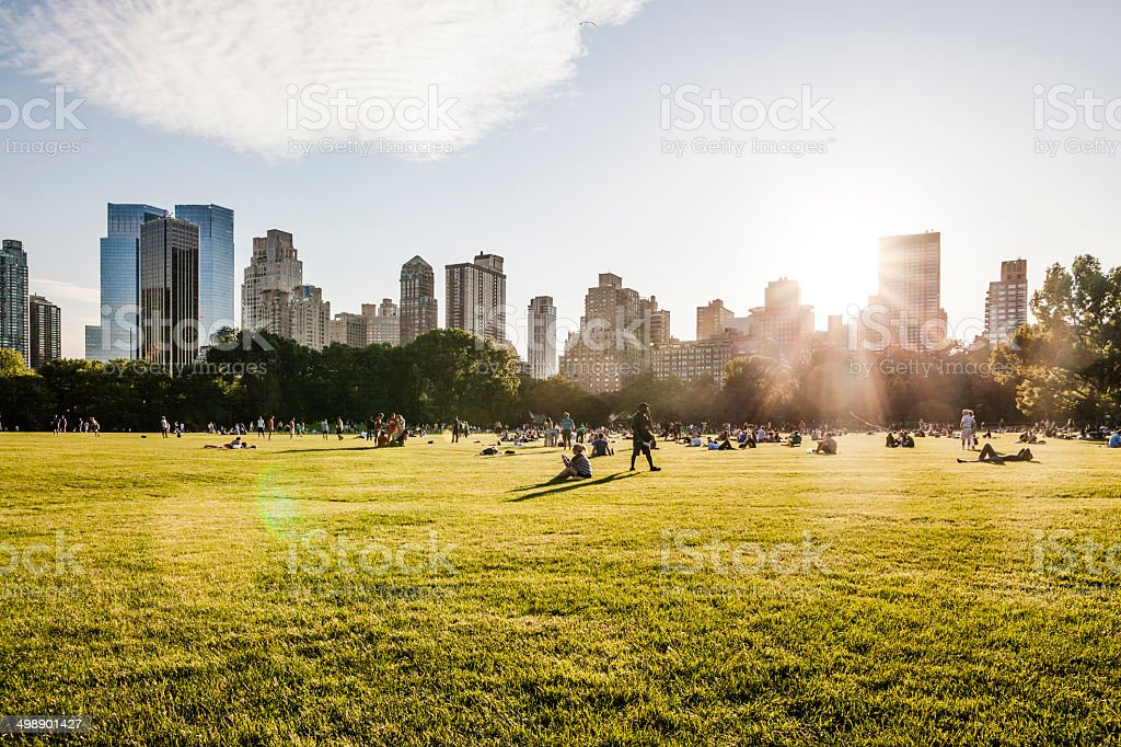 Manhattan skyline, view  from Central Park stock photo
