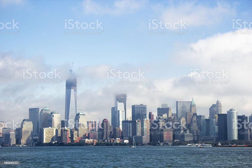 Manhattan skyline with the newest world trade center building royalty-free stock photo