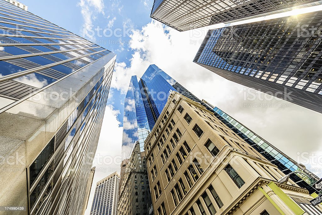 Manhattan Skyscapers New York City USA royalty-free stock photo
