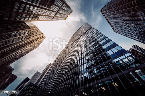 istock Manhattan Skyscapers Wall Street Financial District New York City 888867856