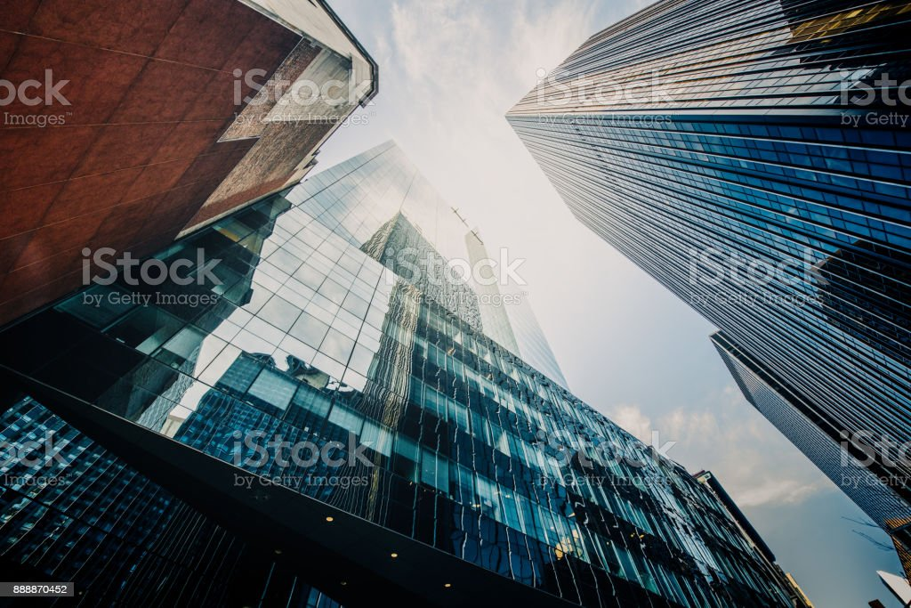 Manhattan Skyscapers Wall Street Financial District New York City - Photo